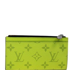 LOUIS VUITTON COIN CARD HOLDER TAIGA MONOGRAM